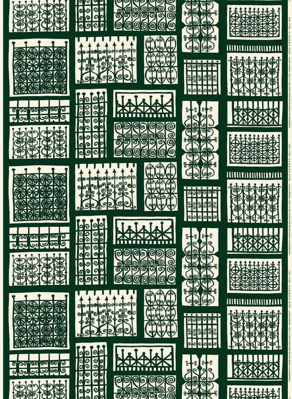 ダークグリーン×オフホワイト