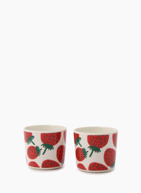Mansikka コーヒーカップセット(ハンドルなし)
